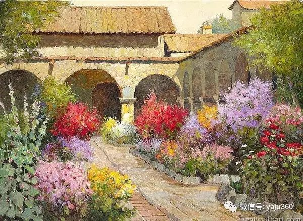 印象风景画 美国肯特·瓦利斯油画欣赏插图59