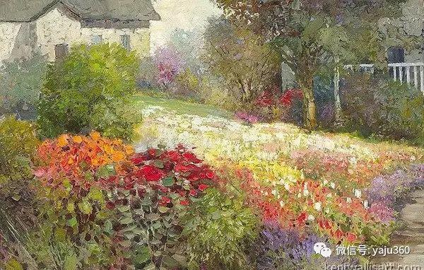 印象风景画 美国肯特·瓦利斯油画欣赏插图63