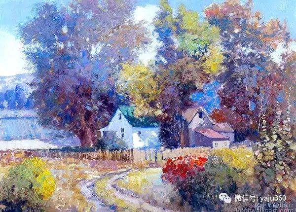 印象风景画 美国肯特·瓦利斯油画欣赏插图65