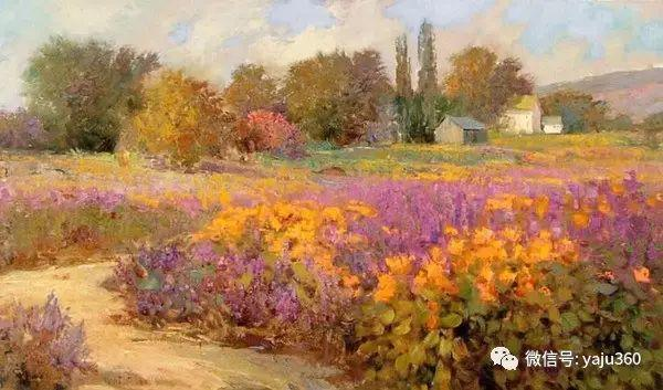 印象风景画 美国肯特·瓦利斯油画欣赏插图67
