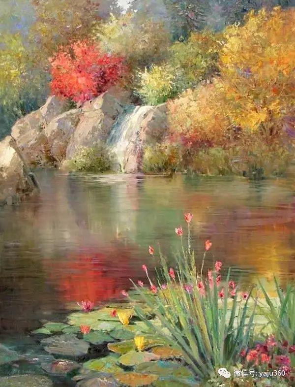 印象风景画 美国肯特·瓦利斯油画欣赏插图69