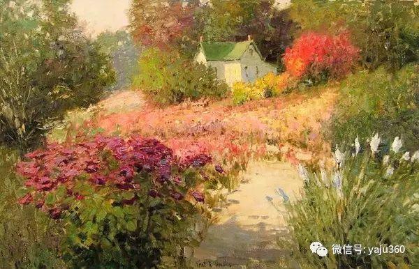 印象风景画 美国肯特·瓦利斯油画欣赏插图71