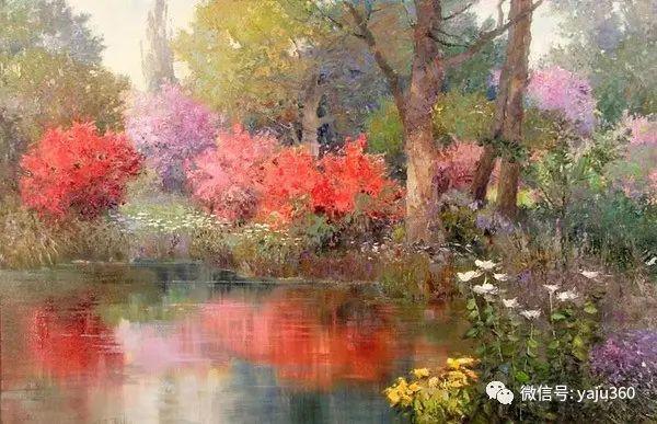 印象风景画 美国肯特·瓦利斯油画欣赏插图73