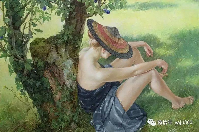法国霍夫《背靠枯树的时髦女郎》插图1