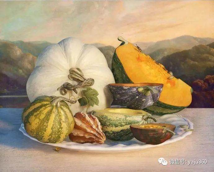 现代感觉的古典写实绘画作品 包菜和萝卜插图5