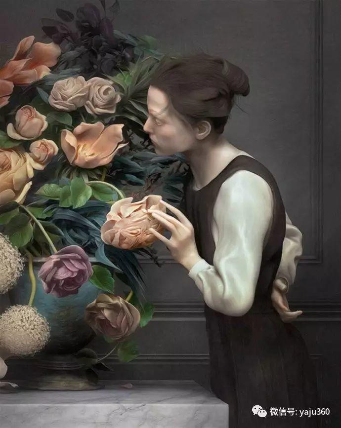现代感觉的古典写实绘画作品 包菜和萝卜插图11