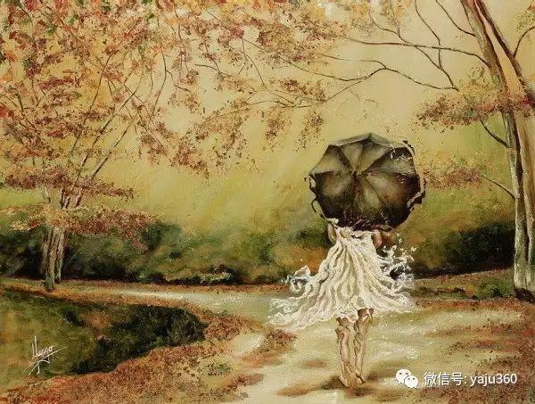 一个人的舞蹈  Цитата сообщения油画作品插图1