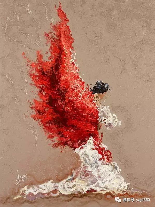 一个人的舞蹈  Цитата сообщения油画作品插图5