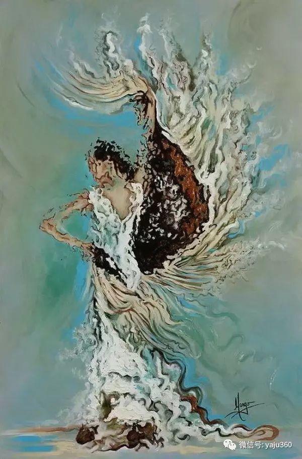 一个人的舞蹈  Цитата сообщения油画作品插图7