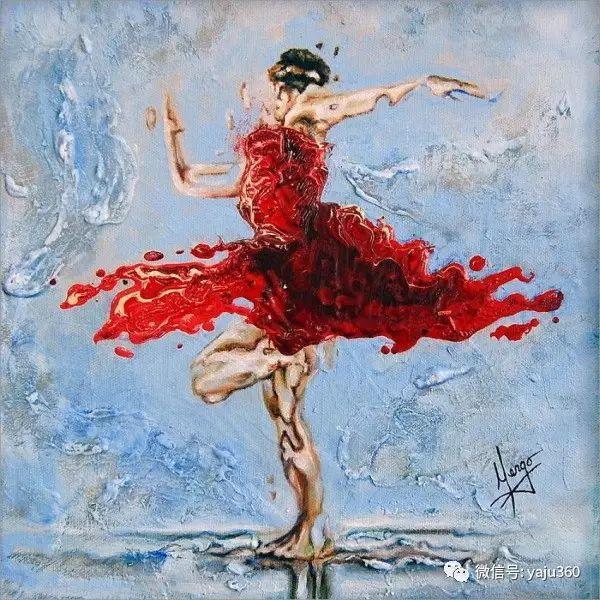 一个人的舞蹈  Цитата сообщения油画作品插图11