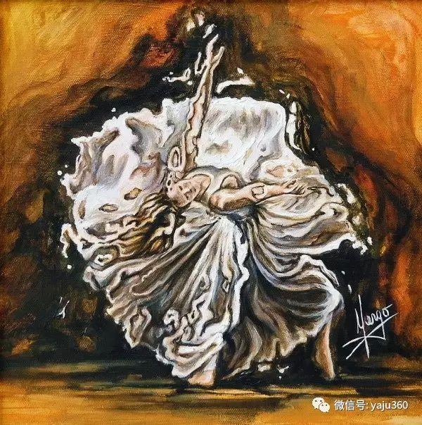一个人的舞蹈  Цитата сообщения油画作品插图17