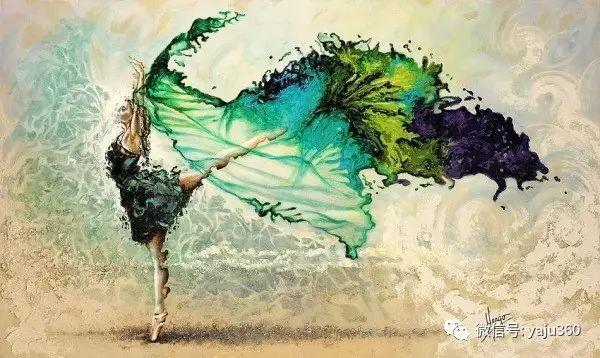 一个人的舞蹈  Цитата сообщения油画作品插图24
