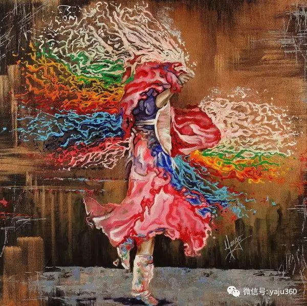 一个人的舞蹈  Цитата сообщения油画作品插图26