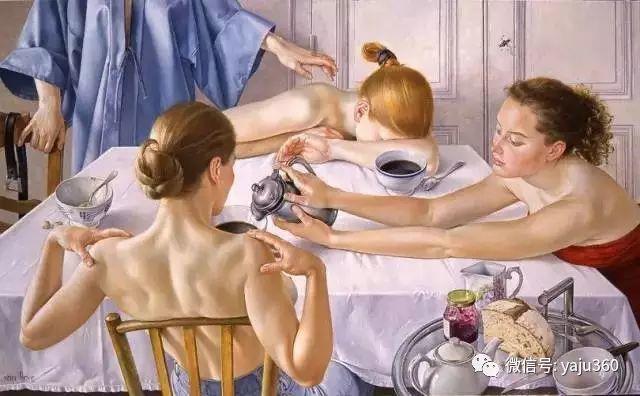 亲密与和平  法国女画家弗朗辛凡霍夫人物油画插图3
