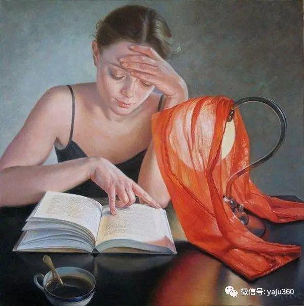 亲密与和平  法国女画家弗朗辛凡霍夫人物油画插图5