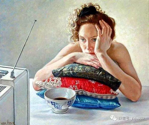 亲密与和平  法国女画家弗朗辛凡霍夫人物油画插图13