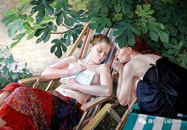 亲密与和平  法国女画家弗朗辛凡霍夫人物油画插图21