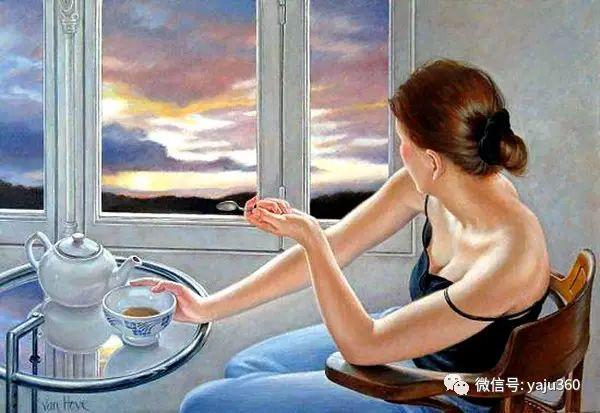 亲密与和平  法国女画家弗朗辛凡霍夫人物油画插图25