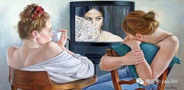 亲密与和平  法国女画家弗朗辛凡霍夫人物油画插图27