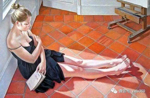 亲密与和平  法国女画家弗朗辛凡霍夫人物油画插图33