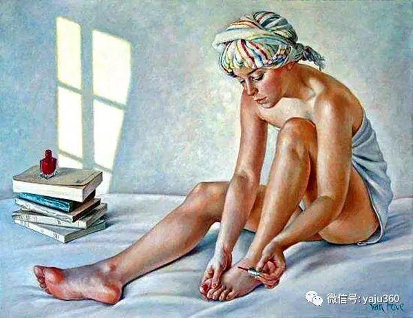 亲密与和平  法国女画家弗朗辛凡霍夫人物油画插图37