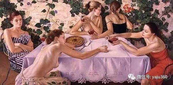 亲密与和平  法国女画家弗朗辛凡霍夫人物油画插图39