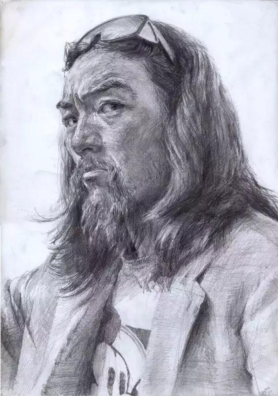 日本画家 三泽宽志素描作品插图3