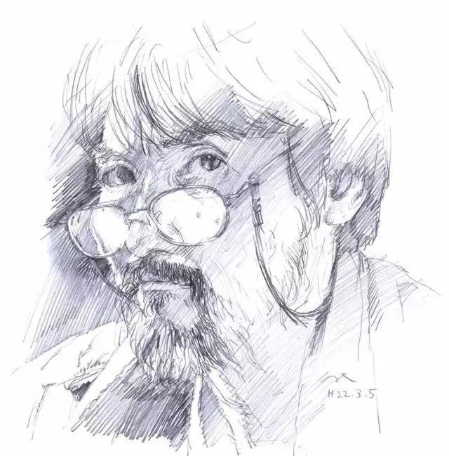 日本画家 三泽宽志素描作品插图5