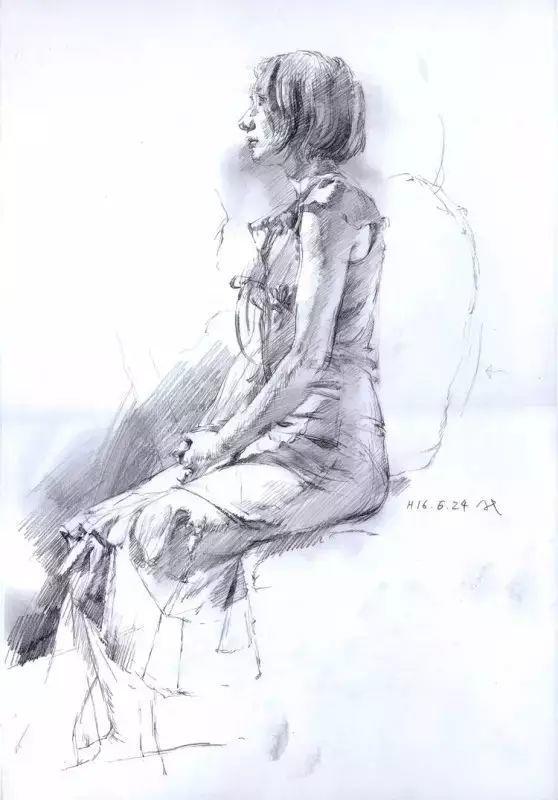 日本画家 三泽宽志素描作品插图7