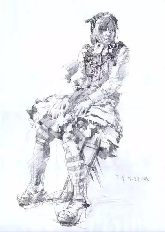 日本画家 三泽宽志素描作品插图15