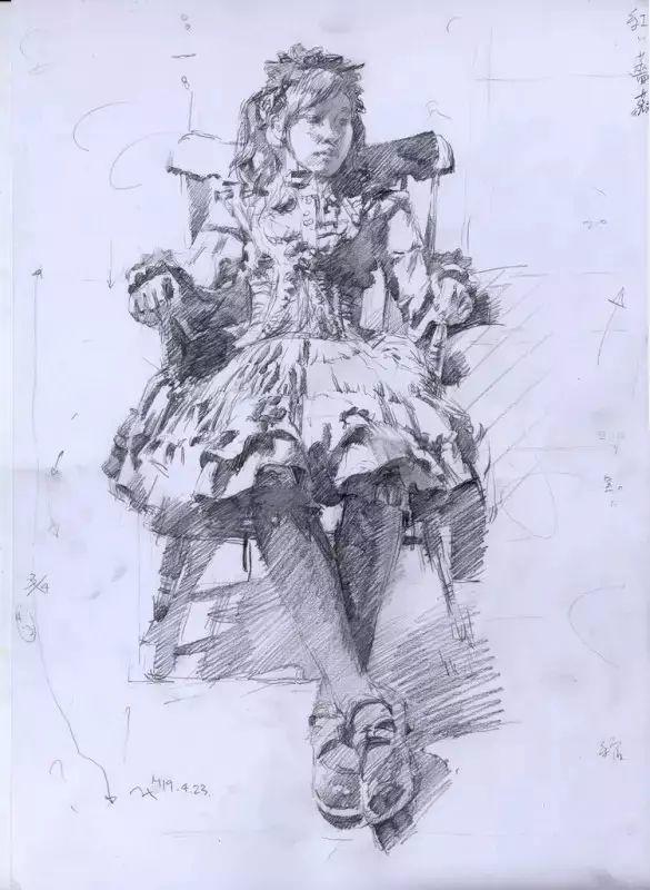 日本画家 三泽宽志素描作品插图27