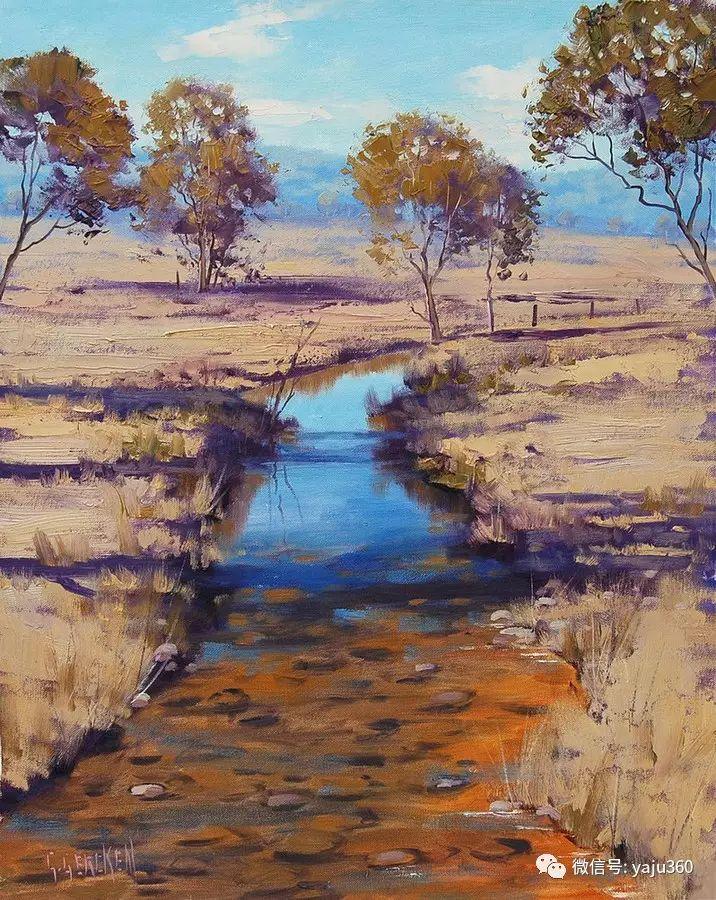 乡村风景油画作品插图1