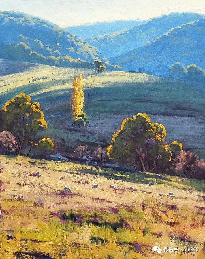 乡村风景油画作品插图3