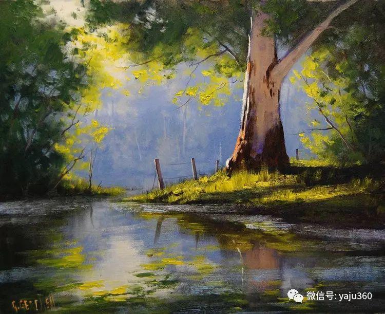 乡村风景油画作品插图5