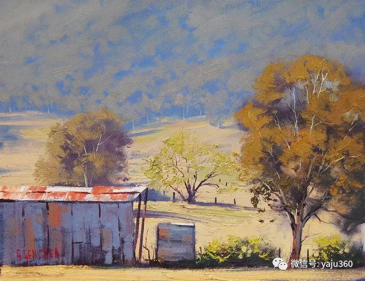 乡村风景油画作品插图7