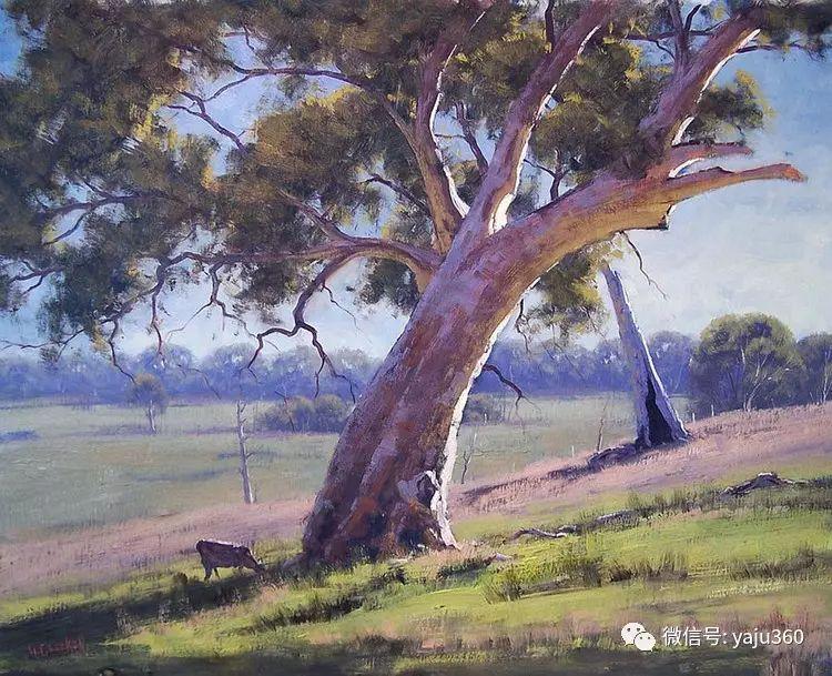 乡村风景油画作品插图11