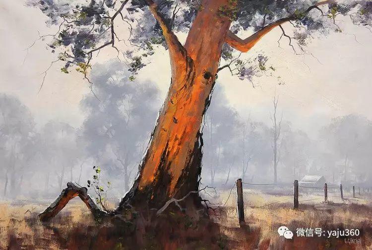 乡村风景油画作品插图17
