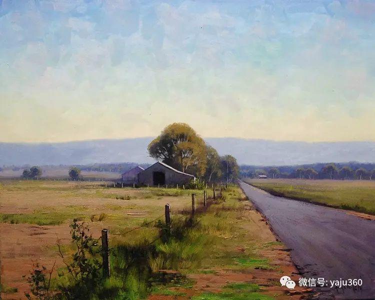 乡村风景油画作品插图19