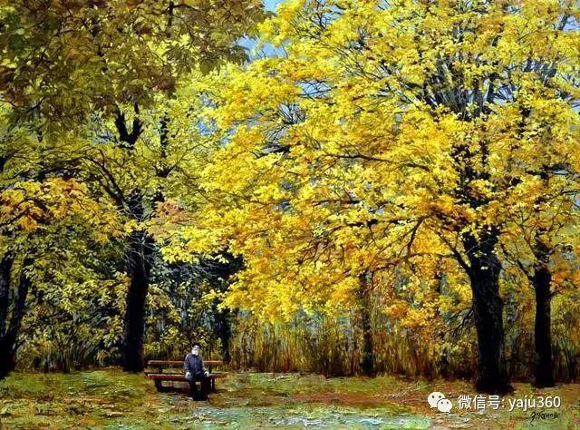 油画世界:俄罗斯巴诺夫风景油画插图1