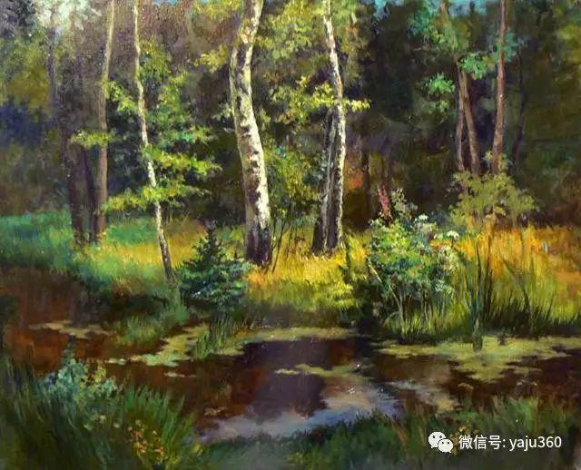 油画世界:俄罗斯巴诺夫风景油画插图3