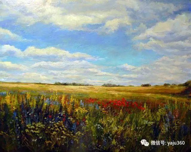 油画世界:俄罗斯巴诺夫风景油画插图7