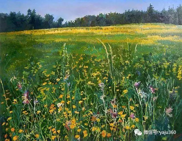 油画世界:俄罗斯巴诺夫风景油画插图9