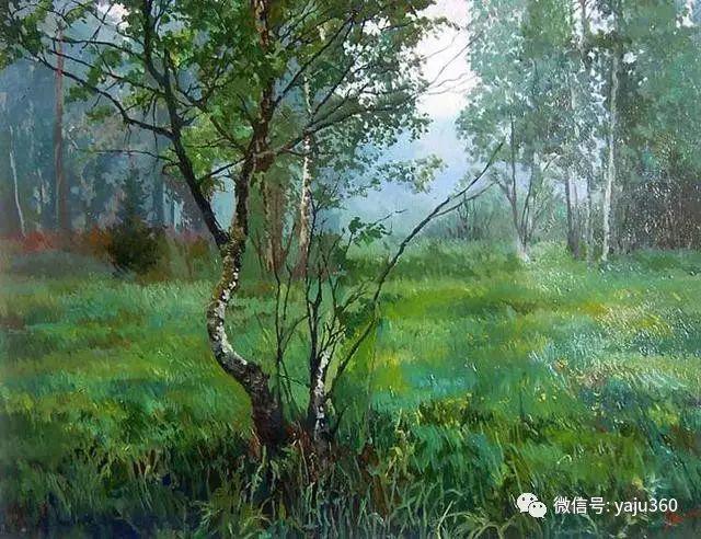 油画世界:俄罗斯巴诺夫风景油画插图11