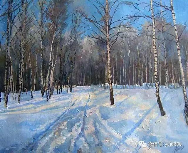 油画世界:俄罗斯巴诺夫风景油画插图13