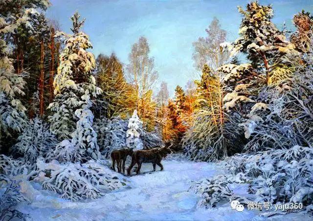 油画世界:俄罗斯巴诺夫风景油画插图15