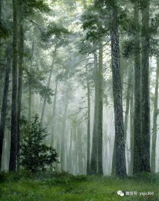 油画世界:俄罗斯巴诺夫风景油画插图17