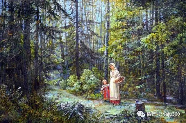 油画世界:俄罗斯巴诺夫风景油画插图19