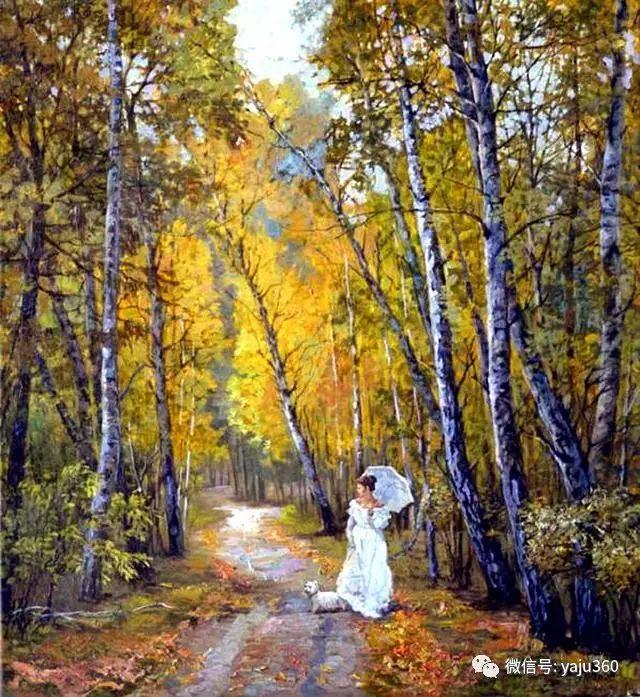油画世界:俄罗斯巴诺夫风景油画插图21