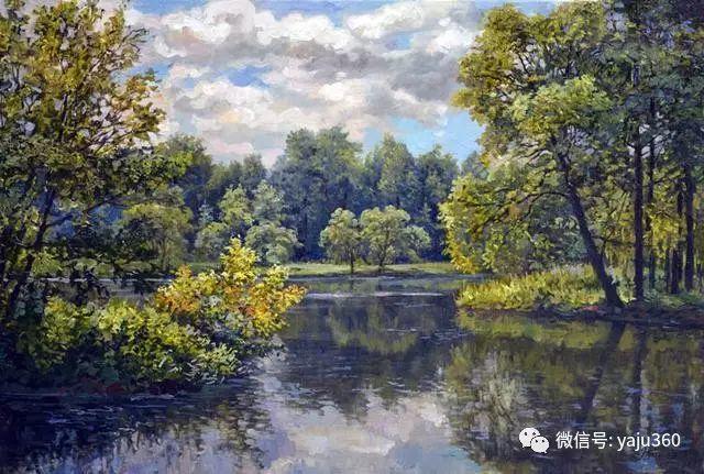 油画世界:俄罗斯巴诺夫风景油画插图25