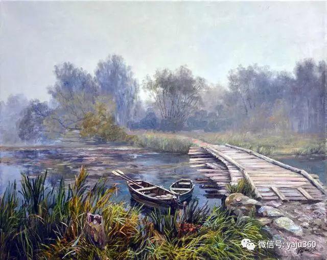 油画世界:俄罗斯巴诺夫风景油画插图27
